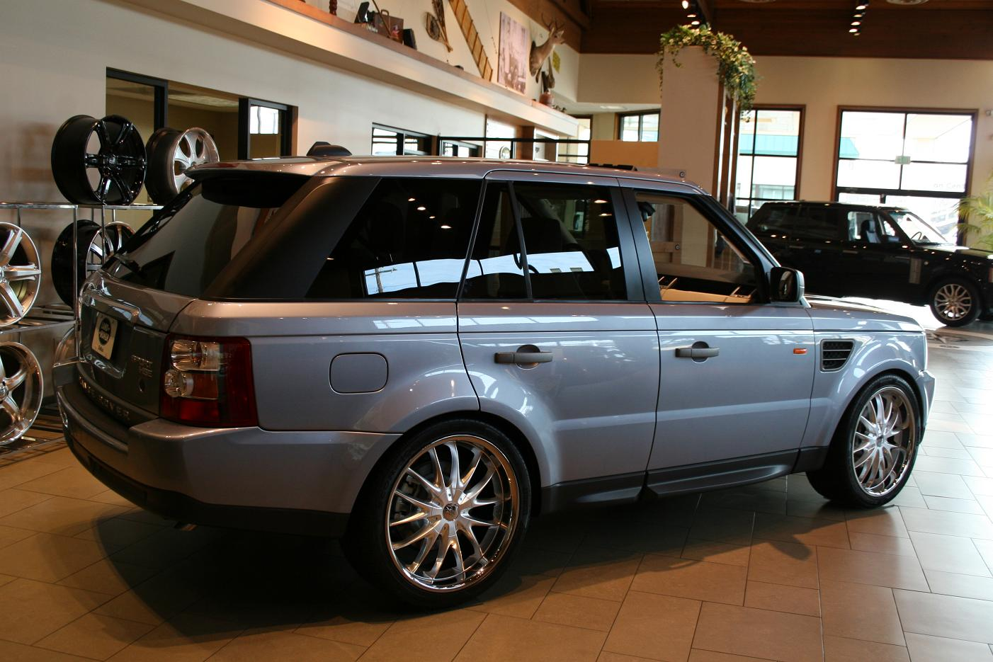 2008 range rover sport on 22 cec c863 silver. Black Bedroom Furniture Sets. Home Design Ideas