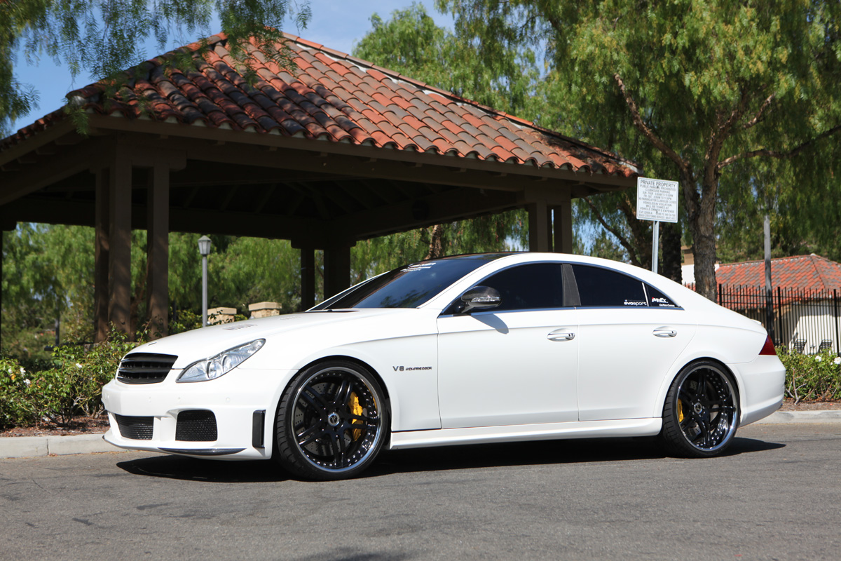21 modulare m11a satin black on a white 06 cls55 amg for 2006 mercedes benz cls55 amg