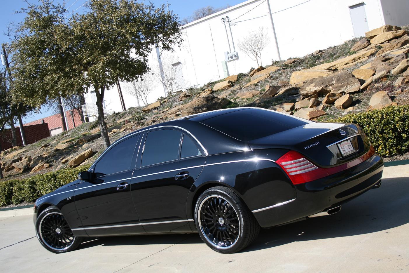 "Custom Wheel Offset >> 2008 Maybach 57S with 22"" Modulare M1 3-piece forged wheels in black - 6SpeedOnline - Porsche ..."