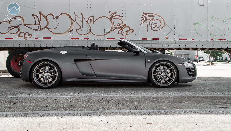 Modulare Wheels Matte Grey Audi R8 V10 Spyder 20