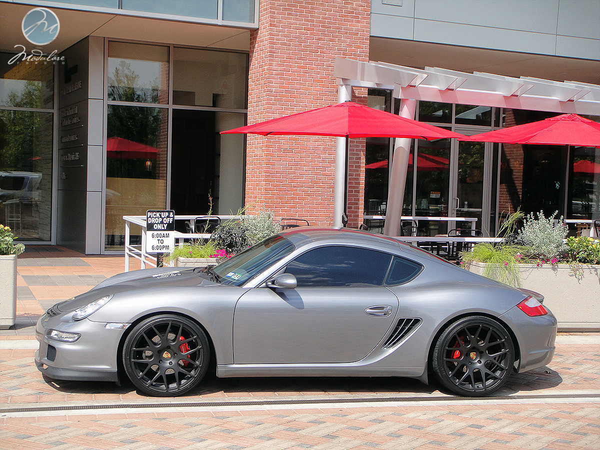 "Porsche West Houston >> Porsche Cayman S | 20"" Modulare B1 satin black - 6SpeedOnline - Porsche Forum and Luxury Car ..."