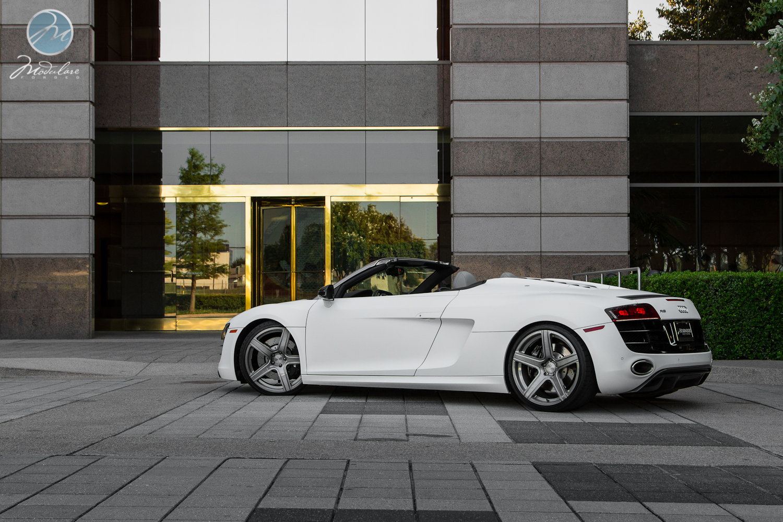 2011 Audi R8 V10 Spyder Matte White Wrap 20 Quot Modulare