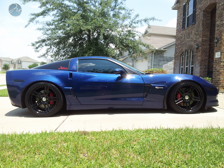 2008 Corvette Z06 With 20 Quot Modulare C11 In All Black