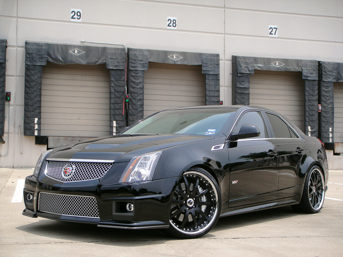 21 modulare m15 wheels in satin black shown on 2010 cadillac cts v