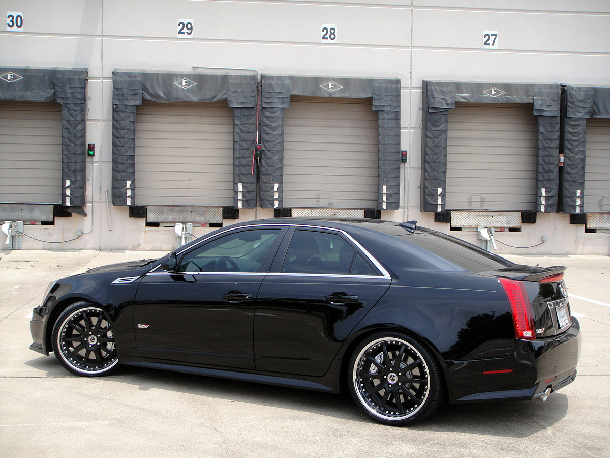 21 modulare m15 wheels in satin black shown on 2010 cadillac cts v 6speedonline porsche forum and luxury car resource