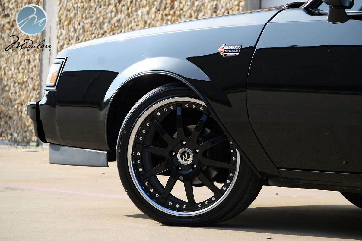 """New wheels installed on the Grand National - 19"""" Modulare ..."""