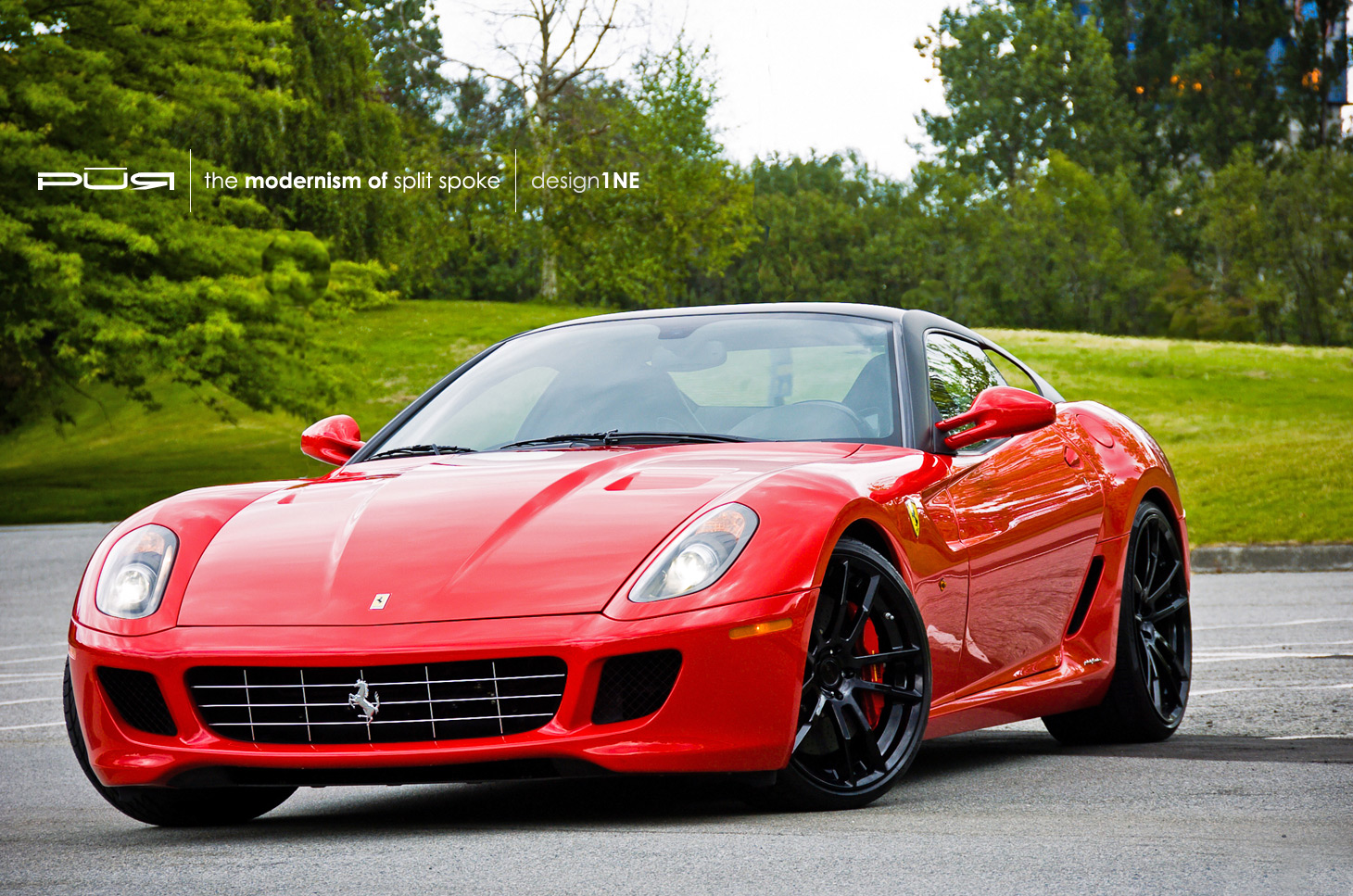 photoshoot pur 1ne in gloss black on ferrari 599 gtb. Black Bedroom Furniture Sets. Home Design Ideas
